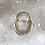 Thumbnail: Sterling Silver Godlen Rutile Faceted Ring Size 5.5