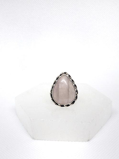 Rose quartz ring size 8