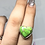 Thumbnail: Sterling Silver Green Copper Turquoise Ring Size 7