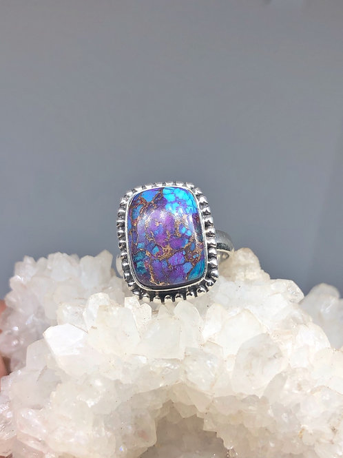 Sterling Silver Kingman Turquoise Ring Size 6