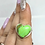 Thumbnail: Sterling Silver Green Copper Turquoise Ring Size 6
