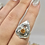 Thumbnail: Sterling Silver Topaz Rings Size 8