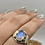 Thumbnail: Sterling Silver Faceted Moonstone Ring Size 8
