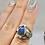 Thumbnail: Sterling Silver Labradorite Ring Size 6