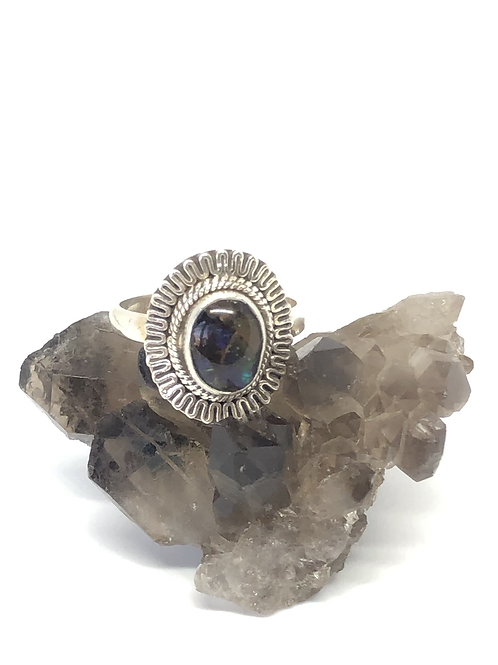 Sterling silver Ammolite ring size 8