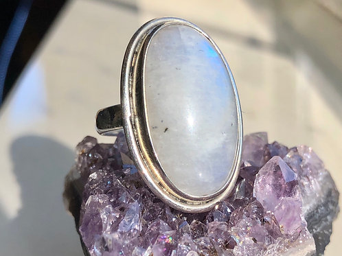 Moonstone Oval ring size 9