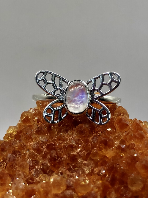Sterling Silver Moonstone Ring Size 10