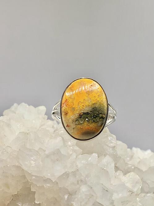 Bumblebee Jasper Ring Size 8.5