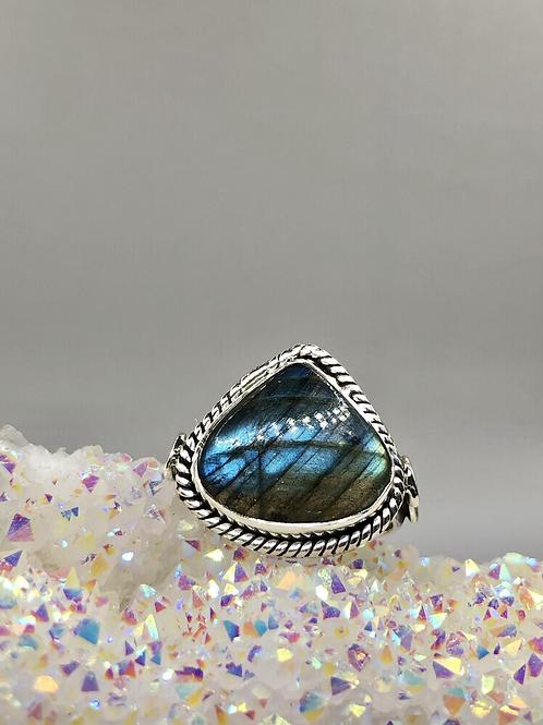 Sterling Silver Labradorite Ring Size 9.5
