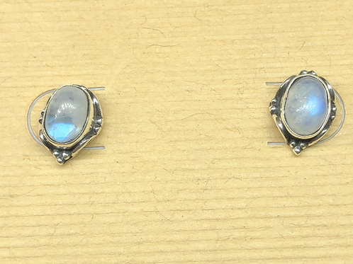 Sterling  Silver Moonstone Studs