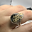 Thumbnail: Sterling Silver Turkish Stick Agate Ring Size 11