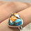 Thumbnail: Sterling Silver Spiny Oyster Arizona Turquoise Ring Size 8