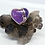 Thumbnail: Sterling Silver Purple Copper Turquoise Ring Size 8