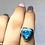 Thumbnail: Sterling Silver Shattuckite Ring Size 7