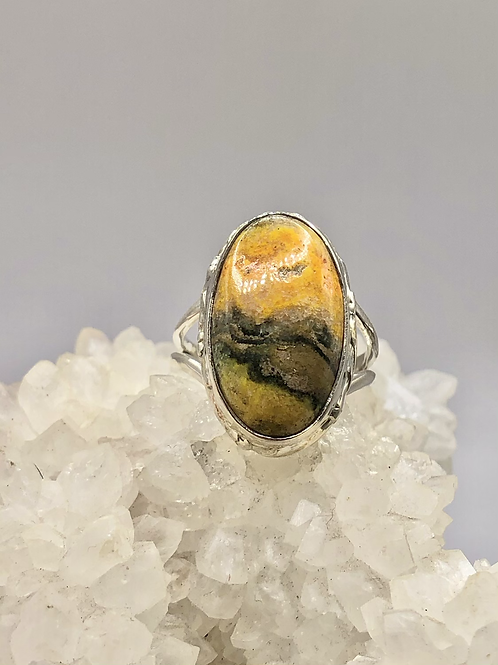 Bumblebee Jasper Ring Size 7