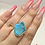 Thumbnail: Sterling Silver Rough Turquoise Ring