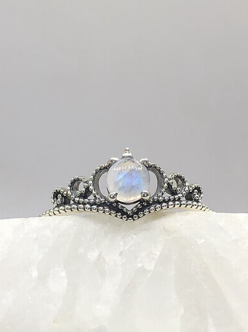 Sterling Silver Moonstone Ring Size 9