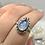 Thumbnail: Sterling Silver Faceted Moonstone Ring Size 7.5