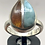 Thumbnail: Sterling Silver Amber Larimar Ring Size 8.5
