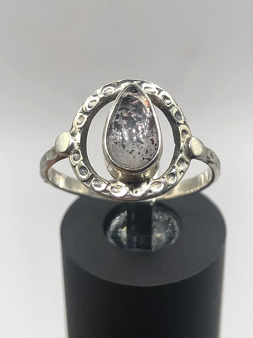 Sterling Silver Lepidolite Ring Size 7.5