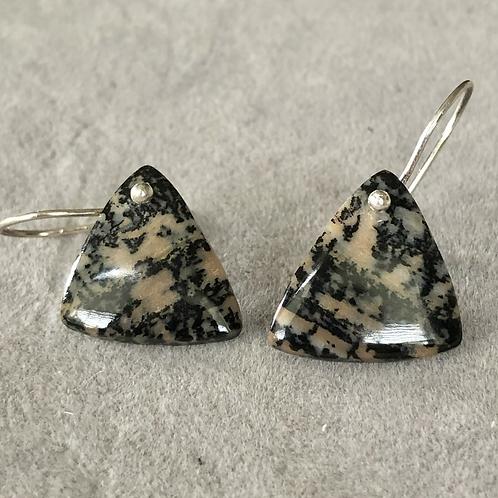 Sterling Silver Honey Dendrite Earrings