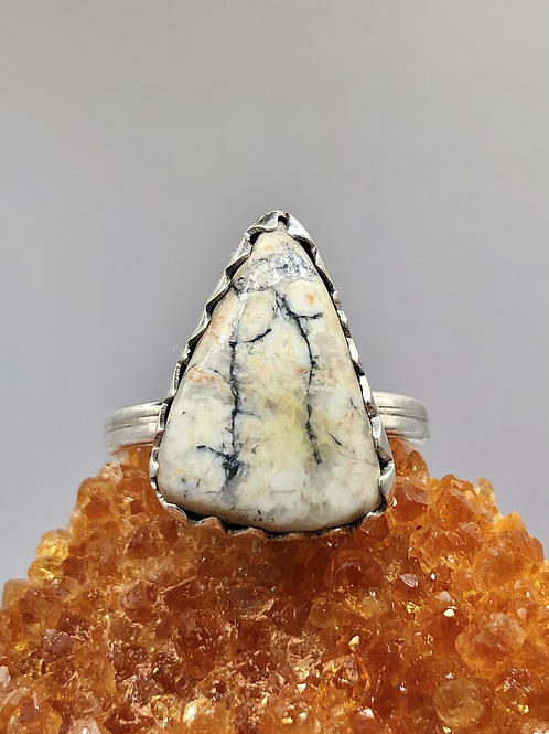 Sterling Silver Buffalo Turquoise Ring Size 9
