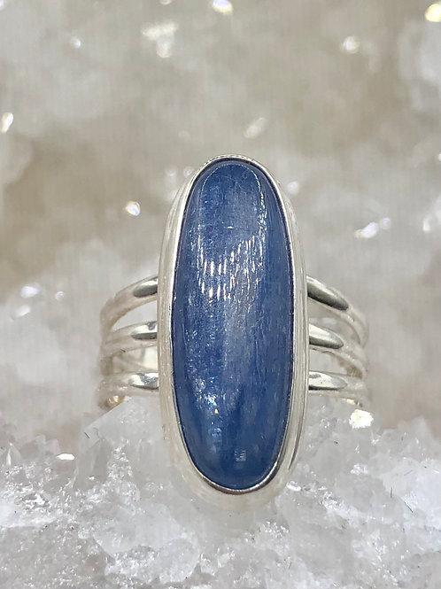 Sterling Silver Kyanite Ring Size 7.5
