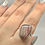 Thumbnail: Sterling Silver Rhodochrosite Ring Size 10