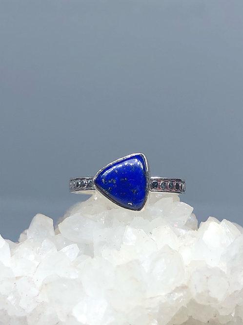 Sterling Silver Lapis Lazuli Ring Size 7