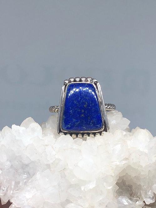Sterling Silver Afgan Lapis Lazuli Ring Size 8.5