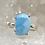 Thumbnail: Sterling Silver Larimar Ring Size 8