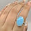 Thumbnail: Sterling Silver Larimar Ring Size 9