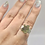 Thumbnail: Sterling Silver Czech Moldavite Ring Size 8.5