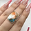 Thumbnail: Sterling Silver Spiny Oyster Arizona Turquoise Ring Size 7.5