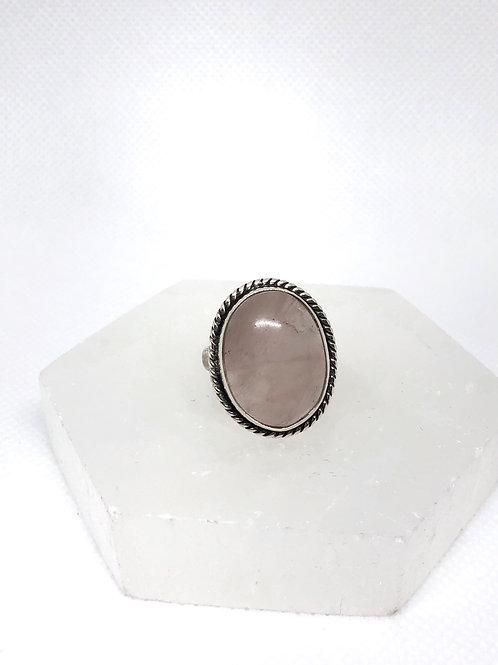 Rose quartz ring size 7