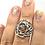 Thumbnail: Sterling Silver Watermelon Tourmaline Ring Size 8