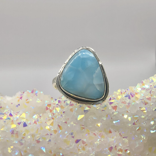 Sterling Silver Larimar Ring Size 7