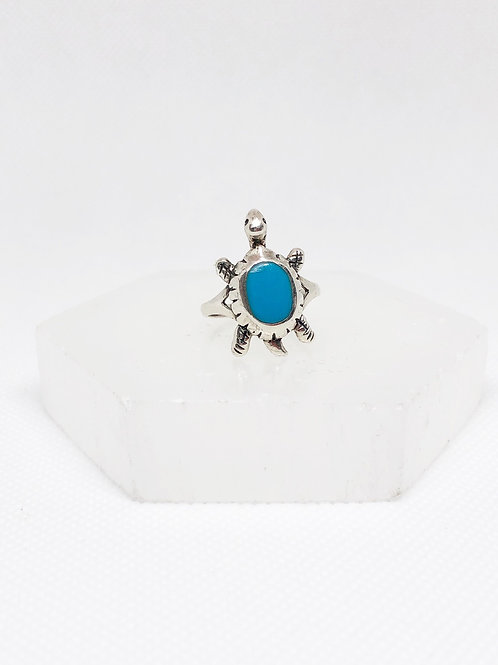 Turquoise turtle ring size 7