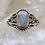 Thumbnail: Sterling Silver Australian Opal Ring Size 7.5