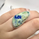 Thumbnail: Sterling Silver Azurite Ring Size 5.5