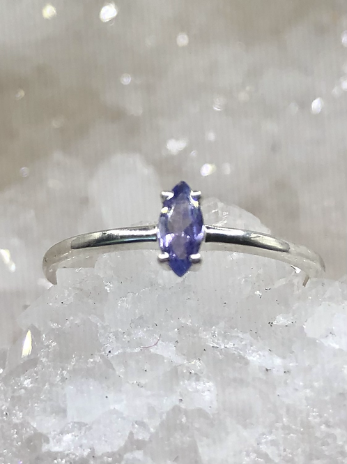 Sterling Silver Tanzanite Ring Size 8