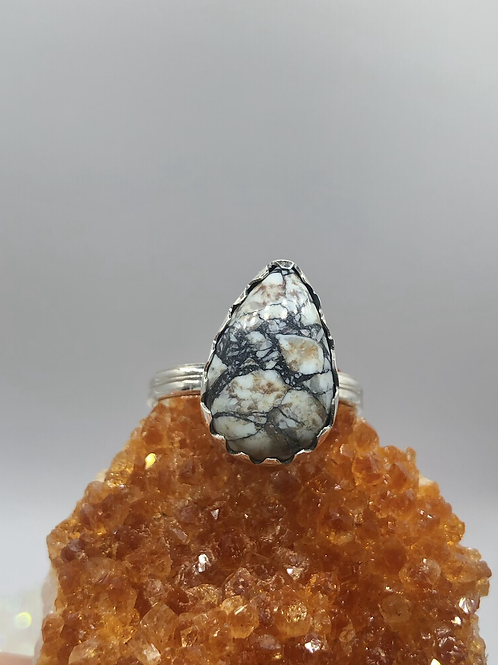 Sterling Silver Buffalo Turquoise Ring Size 8.5