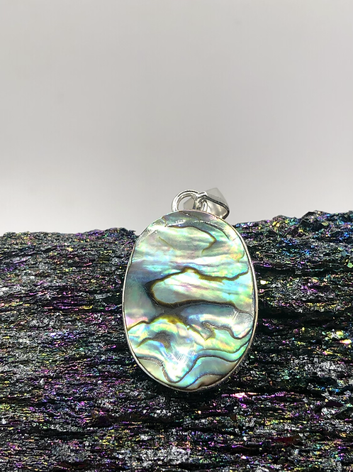 Sterling Silver Abalone Shell Pendant