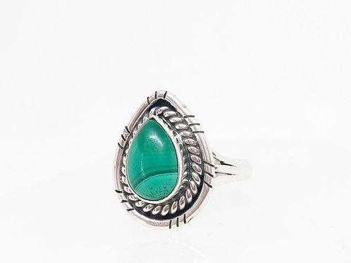 Malachite ring size 8.5