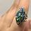 Thumbnail: Sterling Silver Ethiopian Opal In Quartz Ring Size 8.5