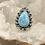 Thumbnail: Sterling Silver Larimar Ring Size 7