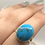 Thumbnail: Sterling Silver Persian Turquoise Ring Size 7.5