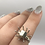 Thumbnail: Sterling Silver Pyrite Ring Size 6