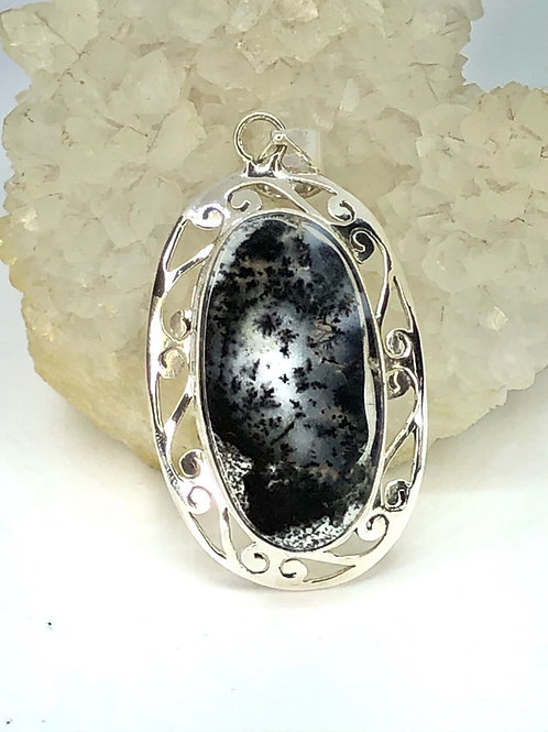 Sterling Silver Dendritic Opal Pendant
