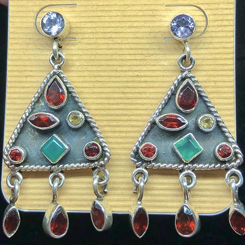 Sterling  Silver Bali Style Earrings